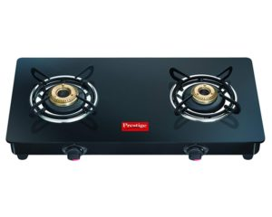 Prestige Marvel Glass Top, Stainless Steel Manual Gas Stove